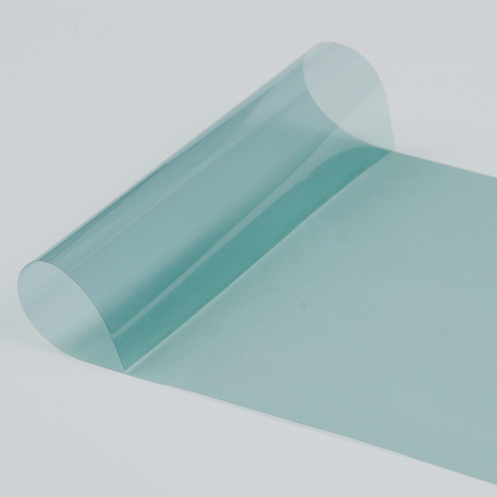 HOHO 70/% VLT 4mil Light Blue Nano Ceramic Car Windshield Glass Film Side Front Window Solar Tint Shatterproof Auto Foil Tint UV Proof 1.52mx0.5m
