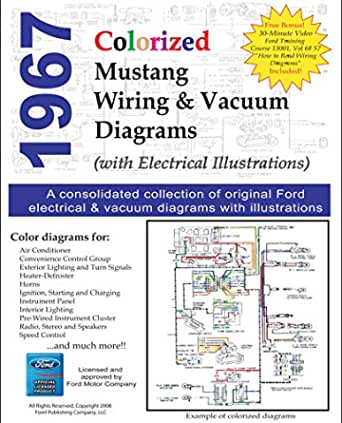 1967 colorized mustang wiring diagrams - kindle edition by motor company,  ford. crafts, hobbies & home kindle ebooks @ amazon.com.  amazon.com