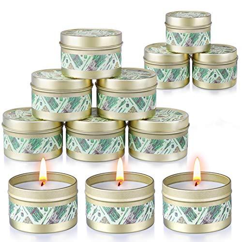 Citronella Candles Outdoor & Indoor (12x2.5oz), Soy Wax Garden Citronella Candles