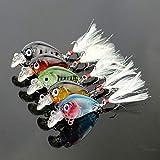 FidgetFidget Hooks 5pcs Lot Feather Fishing Lures Bass CrankBait Crank Bait Tackle 3.6cm/4g
