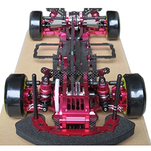 - Hobbypower 1/10 Alloy & Carbon D3 4WD Drift Racing RC Model Car Frame Kit with Front One Way