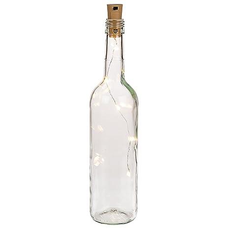 Tapa de botella con 5 luces LED cálidas (pilas incluidas)