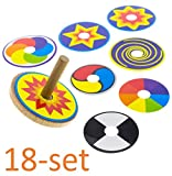 Wooden Spinning Top For Kids, Set of 18: FUN