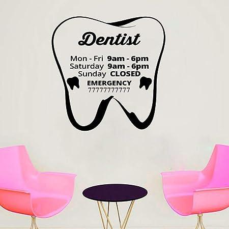 zqyjhkou Cuidado Dental Dentista Etiqueta de la Pared Cartel ...