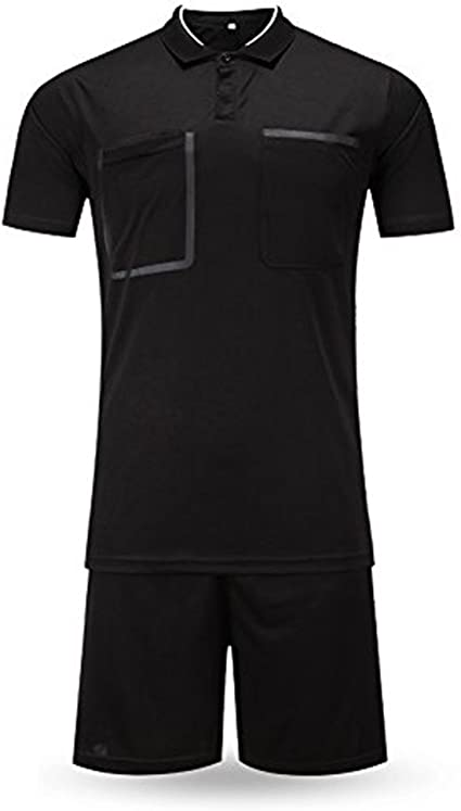 Shinestone Referee Shirts Mens Soccer Football Sports Referee Umpire Shirt Uniform Jersey Costume Short Sleeves Wicking and Quick Drying for Sports
