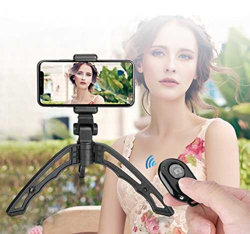 Apexel Portable Phone Tripod Mount Monopod Camera Stand Holder with Wireless Remote Shutter and Universal Clip for iPhone/Android Phone/Camera/Sports Camera GoPro