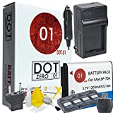 DOT-01 Brand Samsung WB50F Battery and Charger for Samsung WB50F Camera and Samsung WB50F Accessory Bundle for Samsung BP70A BP-70A
