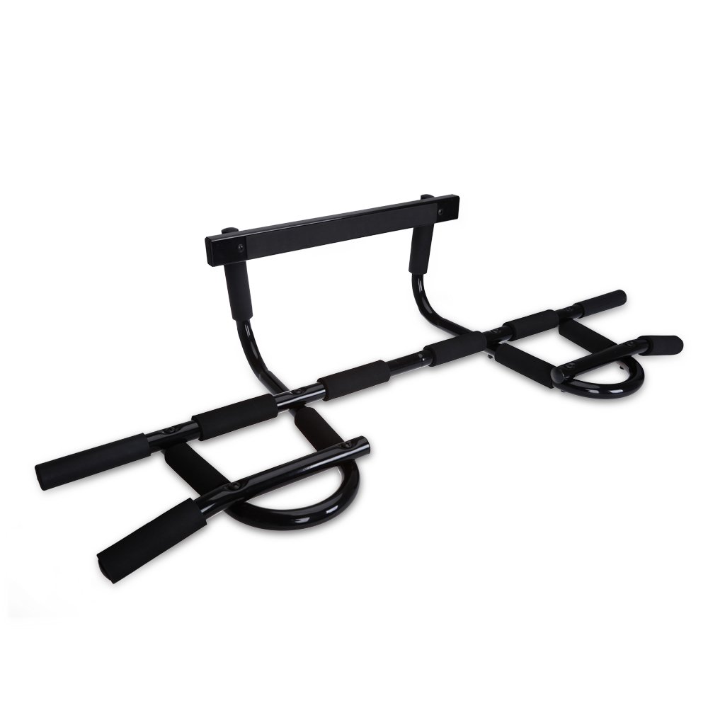 JBM Chin Up Bar Doorway Pull Up Bar Doorway Trainer Exercise Bar Workout Bar for Home Gym Fit Doorways 24'' - 36''wide Capacity 440lbs by JMB
