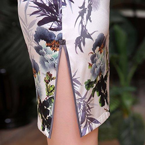 Acvip grigio Pencil Dress Woman Weiß af8arqwT