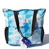 Original Floral Water Resistant Large Tote Bag Shoulder Bag for Gym Beach Travel Daily Bags Upgraded ([E] Floral Leaf)
