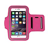 iPhone 6S Plus Case, Lookatoolfor iPhone 6s Plus 5.5Inch Armband Gym Running Sport Arm Band Cover Case (Hot Pink)