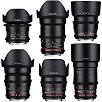 Rokinon CINE DS Cine Lens Complete Bundle - 14mm + 24mm + 35mm + 50mm + 85mm + 135mm for Canon