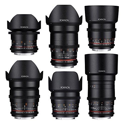 Rokinon CINE DS Cine Lens Complete Bundle - 14mm + 24mm + 35mm + 50mm + 85mm + 135mm for Canon