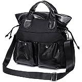 Mfeo Women's Travel Shopping Work Lightweight Oxford Big Shoulder Bag Handbag