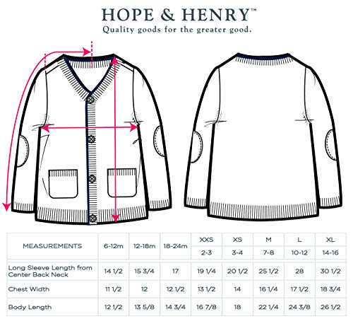 Hope & Henry Boys' Grey Cardigan Sweater Made with Organic Cotton by Hope & Henry (Image #3)