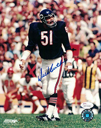Dick Butkus Autographed/Signed Chicago Bears 8x10 Photo JSA Dick Butkus Signed Photo