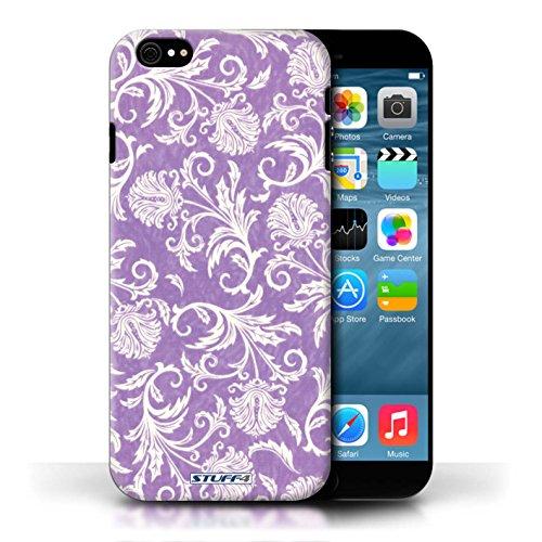 Etui / Coque pour Apple iPhone 6/6S / Fond Violet conception / Collection de Fleurs