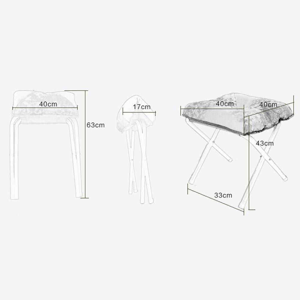 Taburetes ZHANTROGN Sofá heces Cambio de heces la de Zapatos Tela Plegable Simple Moderna de la heces Sala de Estar Sofá heces (Estilo Opcional) (Color : 8) cf82df