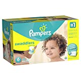 Baby : Pampers Swaddlers Disposable Diapers Size 6, 144 Count, ONE MONTH SUPPLY