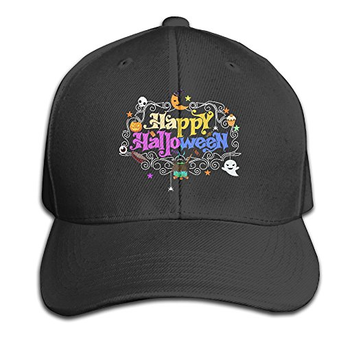 YYQON Peaked Cap Happy Day Of The Dead Halloween Vintage Sportstakeoff Golf Running Fishing Baseball Cap Mesh (Story Behind Halloween Day)