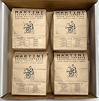 Unroasted Green Coffee Bean Sampler Pack from Martini Coffee Roasters