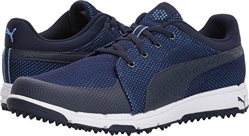 PUMA Men's Grip Sport Golf Shoe, Peacoat/White, 8 Medium
