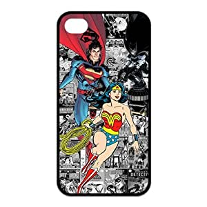 4s Case, iPhone 4 4s Case - Fashion Style New Superman Painted Pattern TPU Soft Cover Case for iPhone 4/4s(Black/white)