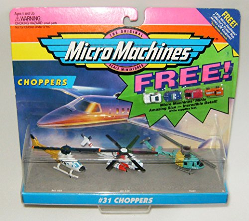 - Micro Machines Choppers #31 Collection with 4 Bonus Mini Vehicles