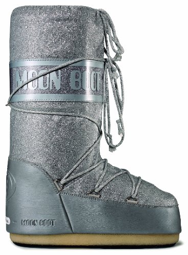 Tecnica Moon Boot Delux 14011600004 - Botas de nieve para mujer plata