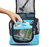 Shower Caddy Case Organizer Tote to Hang in The Shower - Included Free Toiletries Case - Portable and Ideal for Dorm, Camp, Travelling, Gym - by The Fine Living Co USA