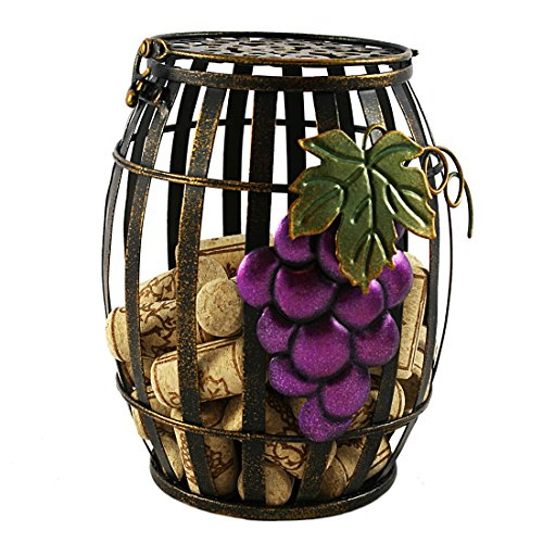 Rustic Wine Barrel Hinged-Lid Cork Cage