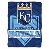 The Northwest Company 1 Pc, Kansas City Royals Blanket 60x80 Raschel Home Plate Design, Acrylic & Polyester, Extra Warm & Superior Durability, Easy Care, Machine Washable & Dryable