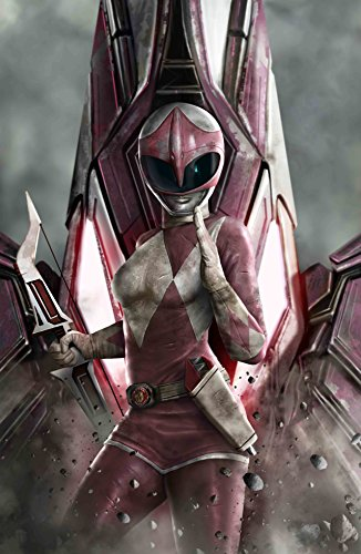"Power Rangers Limited Edition Lithograph 16"" x 24"" - Titled ""Pink Ranger"" by Carlos Dattoli"