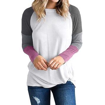 53c0ad7df Amazon.com: US 6-14 Clearance Sale Women Patchwork T Shirt, Ladies ...