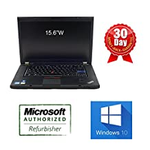 "Lenovo ThinkPad T520: Core i7 2.8 Ghz, 8G DDR3, 320G, WIFI, DVDRW, Webcam, 15.6"", Windows 10 Professional"