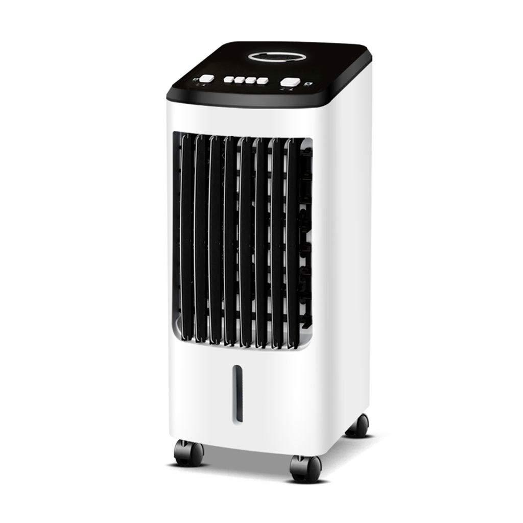 CYLQ 蒸発空気クーラー ポータブル、スリーインワン エアコン 空気清浄器、加湿器 3ファンスピード ホーム 事務所 モバイル 黒、白 (Color : Black-white) B07SZHK168 Black-white