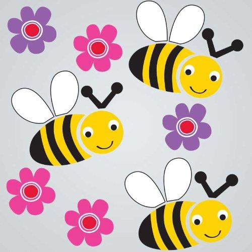 GelGems Bees Flowers Small Bag Gel Clings Window Decor