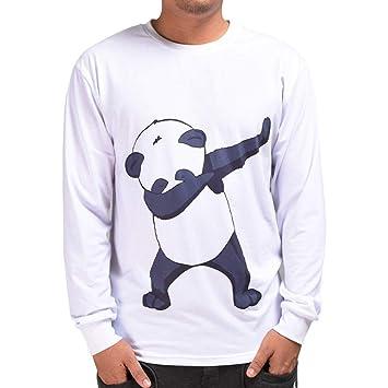 Hombre blusa tops moda fashion 2018, ❤ Sonnena Otoño de los hombres casuales 3D Imprimir Swag Panda Hip Hop de manga larga Pullover Top Blusa: Amazon.es: ...