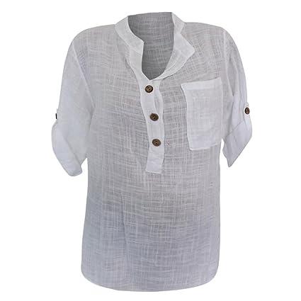 Mujer Blusa tops Elegante sexy casual urbano hogar estilo,Sonnena Camisa de manga larga de