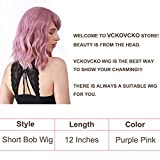 VCKOVCKO Pastel Wavy Wig With Air Bangs Women's
