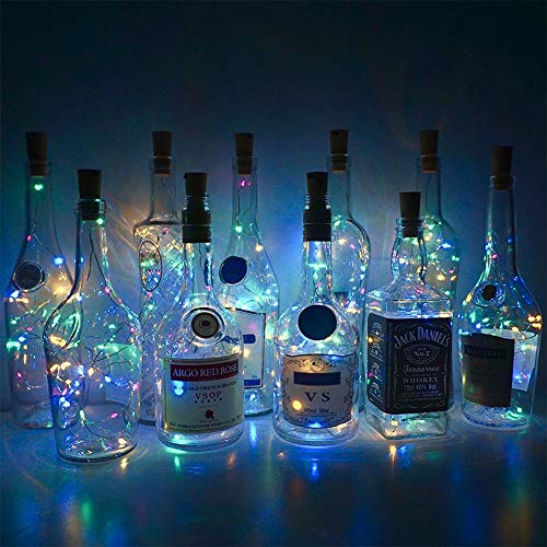 (SONG SONG LU 20 LED Wine Jar Bottle Lights DIY Christmas String Lights for Party Halloween Wedding Decoracion)