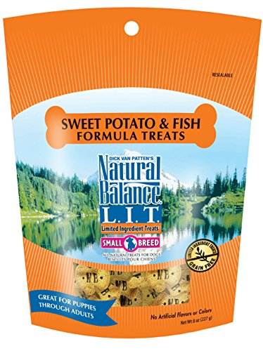 (Natural Balance L.I.T. Limited Ingredient Small Breed Dog Treats, Grain Free, Sweet Potato & Fish Formula, 8-Ounce)