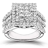 Kobelli Diamond Engagement Ring 2 carats (ctw) in 14K Gold, Size 10.5