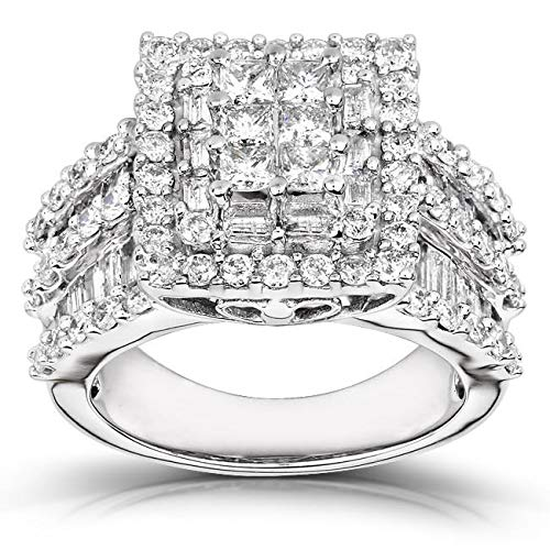 Kobelli Diamond Engagement Ring 2 carats (ctw) in 14K Gold, Size 10.5 (Diamond Carats Ring 2)
