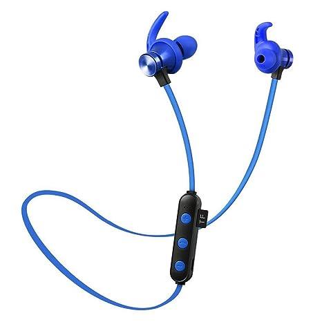 Oshide Auriculares Bluetooth, Auriculares inalámbricos Auriculares estéreo Auriculares inalámbricos Auriculares Deportivos con Ranura para Tarjeta SD ...