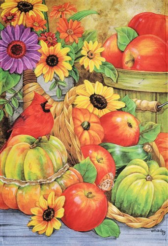 Country Harvest of Apples, Sunflowers & Pumpkins - Large Dec