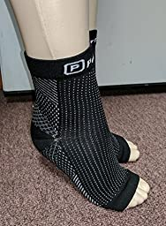 2 Pairs Anti-Fatigue Compression Ankle Foot Sleeve for Plantar Fasciitis Relief Socks (S/M)