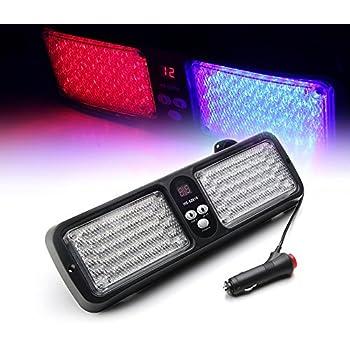 VGEBY Car 12V 86 LED Sun Visor Strobe Flash Light Emergency Hazard Warning Lamp Green