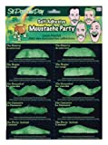 Forum St. Patrick's Day 10-Count Party Mustaches, Green, One Size
