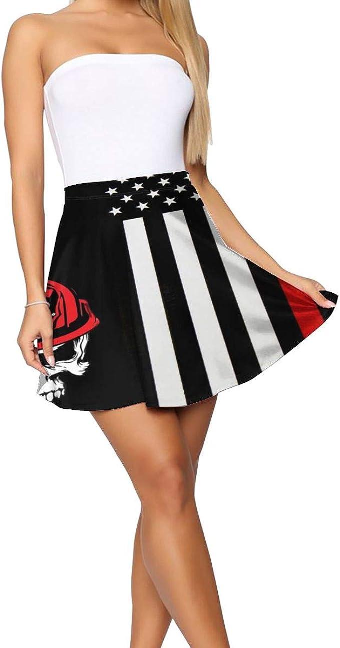 Falda para Mujer con diseño de Calavera de Bombero, Color Rojo, no ...